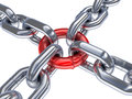 Chain And Red Ring Stock Photography - 28894212