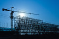 Crane And Building Construction Site Stock Photo - 28899720