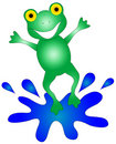 Happy Frog Graphic Royalty Free Stock Image - 2897236