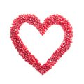 Ripe Pomegranate Seeds In Form Of Heart Stock Photography - 28900632