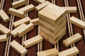 Wooden Blocks Tower And Block Spread Around Stock Image - 28907651