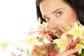 Woman With Flowers Stock Image - 28914321