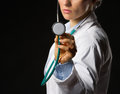 Closeup On Medical Doctor Woman Using Stethoscope Stock Photography - 28914322