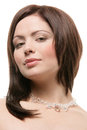 Woman Wearing Crystal Necklace Royalty Free Stock Photos - 28914838