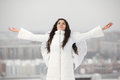 Angel With Raised Hands Looking Up Royalty Free Stock Photography - 28919697