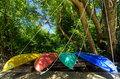Colorful Kayaks Royalty Free Stock Images - 28925569