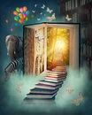 Upstairs To The Magic Land Royalty Free Stock Images - 28926109