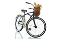 Beach Cruiser With Basket Front View Stock Photo - 28926180