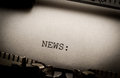 News On Typewriter Royalty Free Stock Image - 28929686