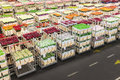 Crates With Flowers On A Dutch Flower Auction Royalty Free Stock Photos - 28941798