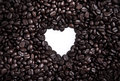 Coffee Beans In Heart Shape Stock Photography - 28945252