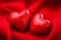 Two Red Hearts Stock Photos - 28951923