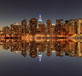 Manhattan Skyline At Night, New York City Stock Images - 28953824