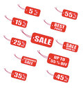 Red Sale Labels Royalty Free Stock Images - 28955219