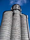 Grain Bin As A Cell Phone Tower-Industrial Royalty Free Stock Image - 28959416