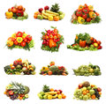 A Collage Of Many Different Fruits And Vegetables Stock Image - 28964311