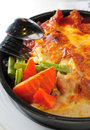 Baked Hotpan Cheese Pork Stock Images - 28971654