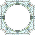 Stained-glass Window Frame For Photography. Stock Photography - 28976872