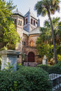 Old Church Among Palm Trees Stock Photo - 28979480
