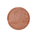 Chocolate Euro Coin Stock Image - 28985511