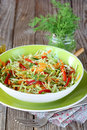 Cabbage Salad With Grilled Pepper Royalty Free Stock Photography - 28988577