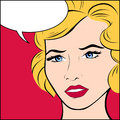 Popart Woman Royalty Free Stock Photo - 28991075