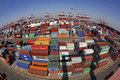China Qingdao Port Container Terminal Royalty Free Stock Image - 29000456