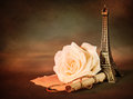 Rose And Paper Scroll Stock Photos - 29000883