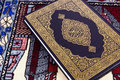 Qur An Over Muslim Prayer Carpet Stock Image - 29002261