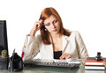 Woman Thought About A Notebook Royalty Free Stock Photography - 29002577