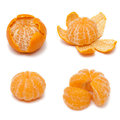 Orange Mandarin Or Tangerine Fruit  On White Background Royalty Free Stock Photography - 29002727