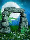 Stone Gate On A Meadow Stock Photography - 29004122