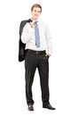 Full Length Portrait Of A Young Businessman Posing With A Coat  Stock Image - 29004341