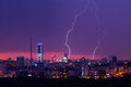 Lightning Storm Over City Stock Images - 29004374