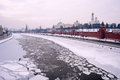 Moscow Winter River Kremlin Royalty Free Stock Photography - 29005147