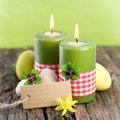 Easter Candles, Label Royalty Free Stock Images - 29007079