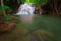 Waterfall In Tropical Forest, West Of Thailand Stock Image - 29007841