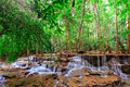 Waterfall In Tropical Forest, West Of Thailand Royalty Free Stock Photography - 29008637