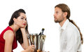Bored Couple On A Date Royalty Free Stock Photos - 29009748