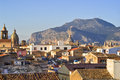 View Of Palermo With Roofs Royalty Free Stock Image - 29014006