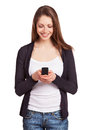 Cheerful Girl With A Mobile Phone Stock Images - 29014244