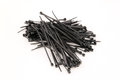 Black Nylock Cable Ties Royalty Free Stock Photography - 29014917