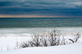 Acold Winter Night On The Great Lakes Stock Images - 29019804