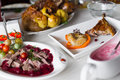 Duck Meat With Cherry Sauce Stock Photos - 29020903