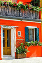 Italian House With Orange Front Stock Images - 29026044