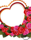 Bouquet Of Roses And Heart Stock Photo - 29029060