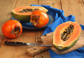 Papaya And Persimmon Royalty Free Stock Image - 29029626