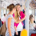 Pretty, Young Woman On A Streetcar/tramway Stock Photo - 29042510