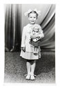 Vintage Photo Of Little Girl Stock Image - 29046051