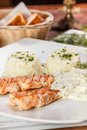 Roasted Salmon Royalty Free Stock Photography - 29047067